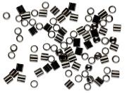 Cousin Jewellery Basics 2mm Crimp Tube/Bead, Gunmetal, 500-Piece