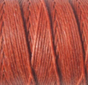 Waxed Irish Linen-LightRust. Sold per 10 yards of 4-ply