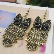 Fashion Vintage Copper Big Eyes Owl Vivid Jewellery Earrings