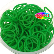 Grass Green Rubber Bands Jewellery Makings-600pcs Loom Bands+24pcs S-clips