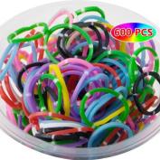 Unique Colourful Loom Rubber Bands-600pcs Loom Bands+24pcs S-clips