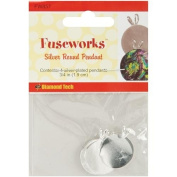 Fuseworks Silver Round Pendant Plate, 4-Pack