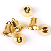 40pcs Iron Plated Gold Cute Jingle Bells Fit Festival Christmas Decor