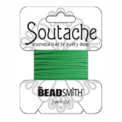 Beadsmith Soutache Braided Cord 3mm Wide - Grass Green