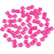 "RHX 100 PCS 9mm 0.4"" Pyramid Studs Rivet Spike Nickel Bag Belt Leathercraft DIY Rose"