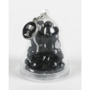 First Communion Gift Black Cord Rosary with Enamel Chalice Charm in Bell Shape Keepsake Case