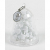 First Communion Gift White Cord Rosary with Enamel Chalice Charm in Bell Shape Keepsake Case