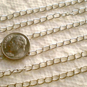 10 Feets Silvertone Extender Chain 3cm~Jewellery Making~
