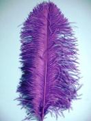 1 Pc Ostrich Feather Plume 46cm - 60cm (Top Quality) - PURPLE