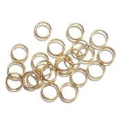 EOZY 7mm Plated Golden Open Double Jump Rings Fit Jewellery Making Findings DIY Earring Bracelet Necklace Design