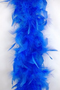 65 Gramme Chandelle Feather Boa - ROYAL BLUE 2 Yards