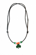 Irish Shamrock Small Metal Necklace Choker.. New