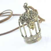 Vintage Jewellery Birdcage Pendant Necklace, NL-917
