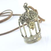 Vintage Jewellery Birdcage Pendant Necklace, NL-917