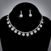 Bride Crystal Rhinestone Choker and Earring Set, CHO-5015
