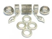 Scarf Jewellery Scarf Rings Tubes Sold Per Set 11 pcs US Seller Delivery 4 Days