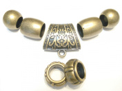 Scarf Jewellery Antique Bronze Scarf Rings Sold Per Set 7pcs S03125