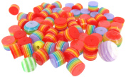 Linpeng Internationa Resin Rainbow Beads, Multi-Size
