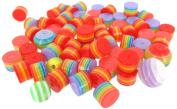 Linpeng Internationa Resin Rainbow Beads, Multi-Size