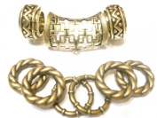 Scarf jewellery Combo Antique Bronze scarf Tubes Rings for Necklace Scarf, D04624