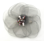 Laliberi Julie Comstock Ready to Wear Flower, Light Grey Lotus
