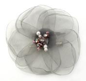 Laliberi Julie Comstock Ready to Wear Flower, Light Grey Lotus