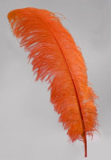 1 Pc Large Ostrich Feather Plume 60cm - 70cm (Top Quality) - ORANGE