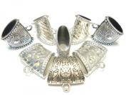 Fashion Jewellery Fashion Jewellery Silver Scarf Bails Acrlic Pendant Accessory 8pcs S03112