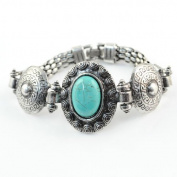 Charming Life Turquoise Single-side Cuff Bracelet, BR-1134