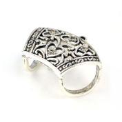 Classic Antique Silver Art Alloy Rings Tube for Scarves Diy. Pt-504,6 Pcs Per Lot