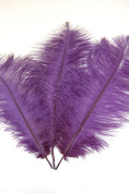 3 Pcs Ostrich Feather Drabs 30cm - 41cm Plumes - PURPLE