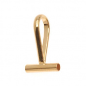 Beadaholique Tone Horizontal Pin Brooch to a Pendant Converter, Gold