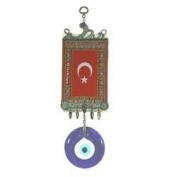 Turkish Flag Evil Eye Wall Rug-Large