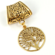 Scarf Jewellery - Antique Gold Tree of Life Scarf Pendant