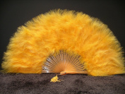 Marabou Feather Fan 30cm x 50cm - GOLD