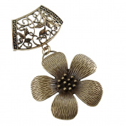 Scarf Jewellery - Antique Bronze Posy Scarf Pendant