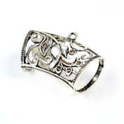 Antique Silver Art Metal Flower Jewellery Scarf Tube Holding for Diy. Pt-512,6 Pcs Per Lot