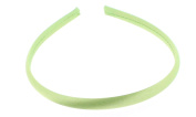 Trimweaver 12-Piece Satin Covered Plastic Headband for Jewellery Making, 10mm, Apple Green