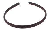 Trimweaver 12-Piece Satin Covered Plastic Headband for Jewellery Making, 10mm, Brown