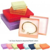 Assorted Colours Square Cardboard Cotton Filled Jewellery Gift Boxes 3.5 X 8.9cm X 2.5cm