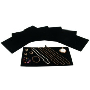 Jewellery Display Tray Insert Pad Black Velour 36cm 6Pcs