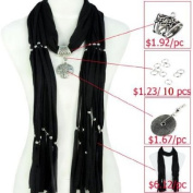 Scarf Accessories, DIY Scarf, Make Jewellery Scarf Yourself, Different Pendant, Colours Available