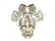 Scarf jewellery alloy scarf slides tubes 4 styles 8pcs for jewellery with scarves,D02883 silver tone