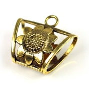 6pcs Per Lot,gold and Silver Colour Available,sunflower Jewellery Tube for Scarves.pt-511
