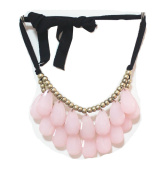 WIIPU pink teardrop bubble necklace,statement bubble necklace,bubble jewellery