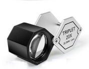 Grandindex Jewellery Loupe Magnifier Gm-20205a with 20x Magnification 20.5mm Lens,great Jewellery Loupe for Jeweller