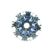 White Round Cz Fancy Cut Loose Unset Gemstone Heart and Arrow Cut 8mm
