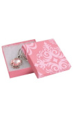 Bracelet Necklace Large Earrings Gift Box Lot of 10 Boxes Pink Damask Jewellery Compact Box with Cotton 3-1/2 X 3-1/2 X 1