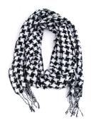 EK Success Brands Laliberi Scarf, Black and White Herringbone
