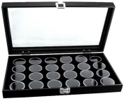 Deluxe Storage and Display Case with 24 Gem Jars